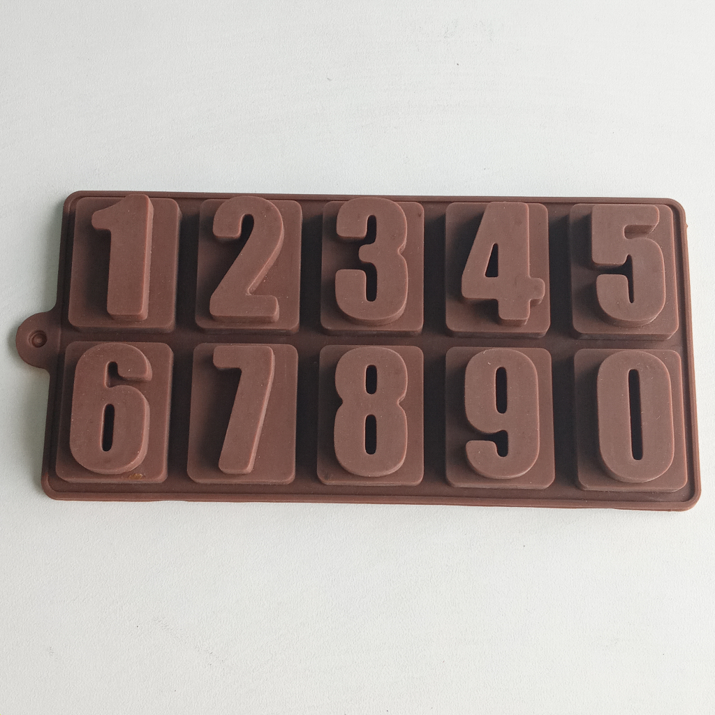 """Number 1.25x1.6"""" Chocolate Mould Silicon"""