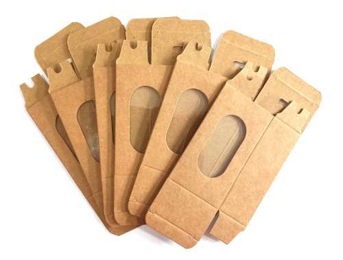 5 PCs Brown Color Craft Paper Cakesicle Boxes Cake Tools - Divena In