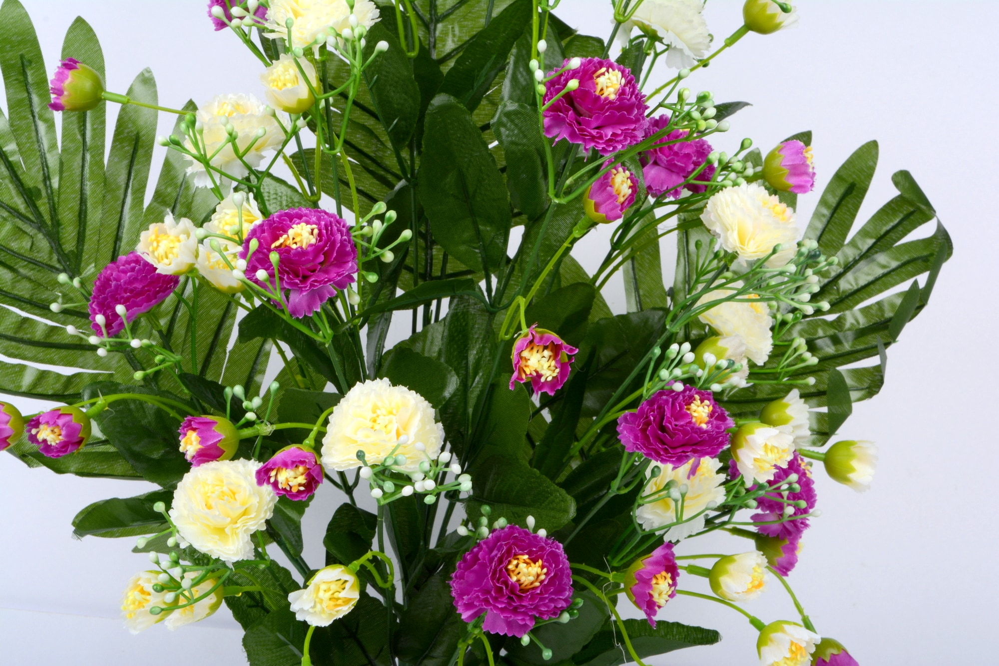 Artificial Carnation Flower Bouquet Bunch N42C1