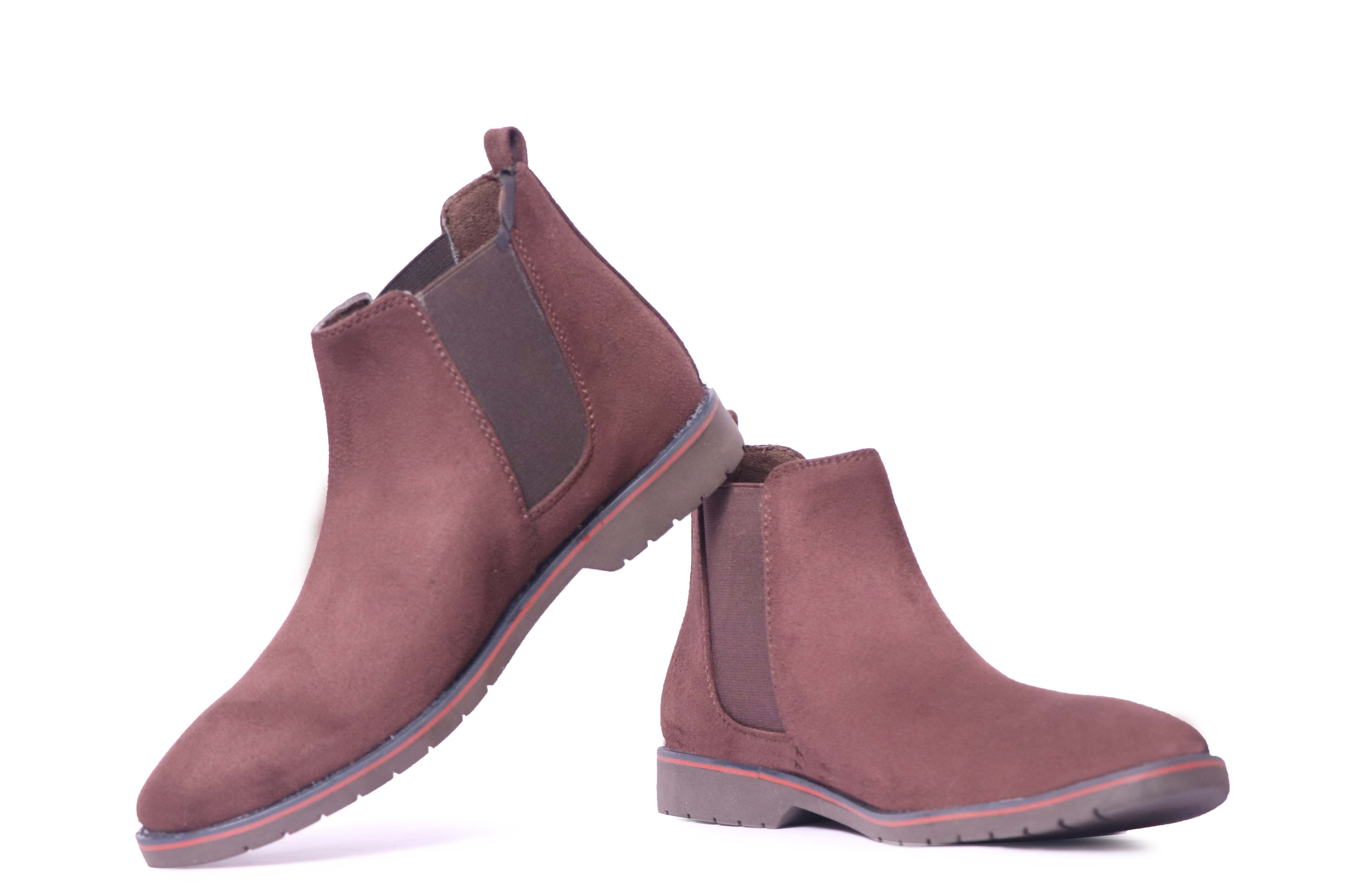 GENNEXT SMART ANKIL HIGH CHELSEA BOOT COMFORTABLE SHOES CHELSEA302 (BROWN, 6-10, 8 PAIR)
