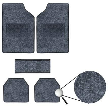 Vheelocityin Best Quality Set Of 5 Carpet Beige Car Foot Mat / Car Floor Mat For Renault Lodgy