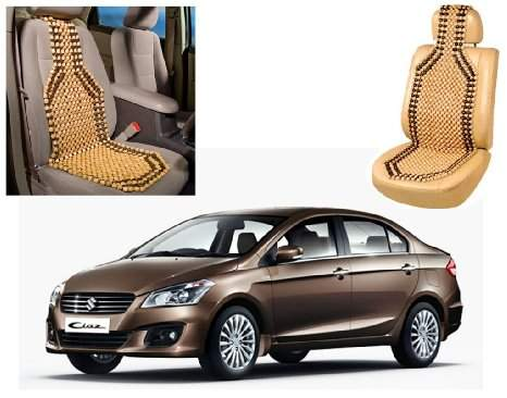 Auto Pearl - Premium Quality Car Wooden Bead Seat Cover For - Maruti Ciaz