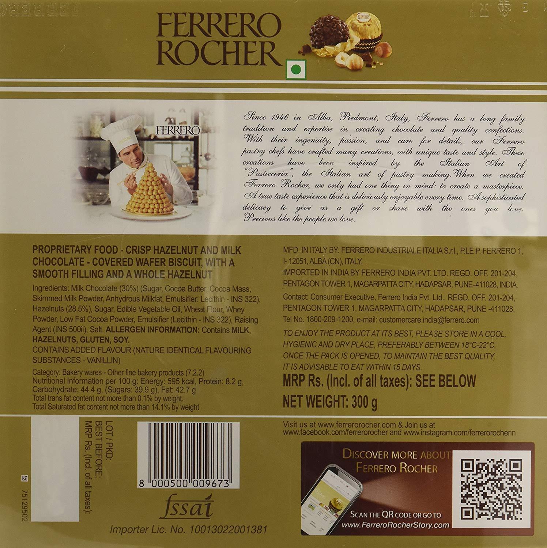 Ferrero Rocher Chocolate 24 Pc