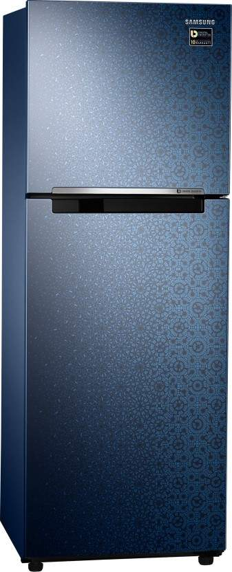 Samsung 253 L Frost Free Double Door 2 Star Refrigerator (Ombre Blue, RT28N3022MU/HL)