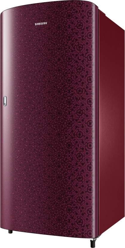 Samsung 192 L Direct Cool Single Door 1 Star Refrigerator (Ombre Red, RR19R11C2MR/HL)