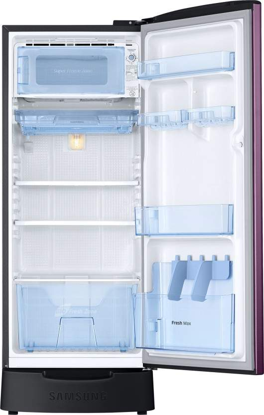 Samsung 212 L Direct Cool Single Door 3 Star Refrigerator With Base Drawer (Camellia Purple, RR22R383ZCR/HL)