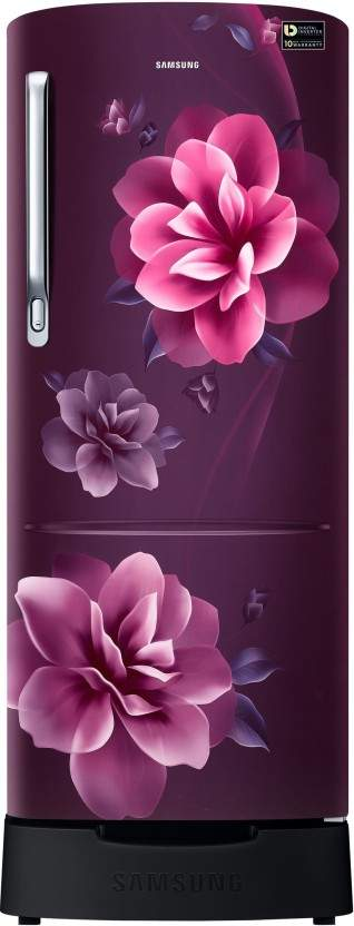 Samsung 230 L Direct Cool Single Door 3 Star Refrigerator With Base Drawer (Camellia Purple, RR24R285ZCR/NL)
