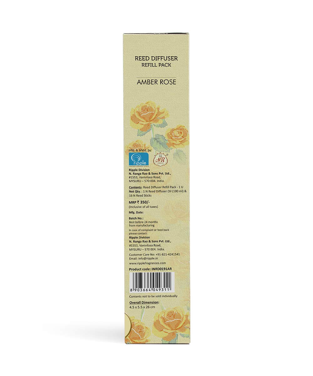 Iris Reed Diffuser Refill Pack AMBER ROSE Fragrance INRD0191SC