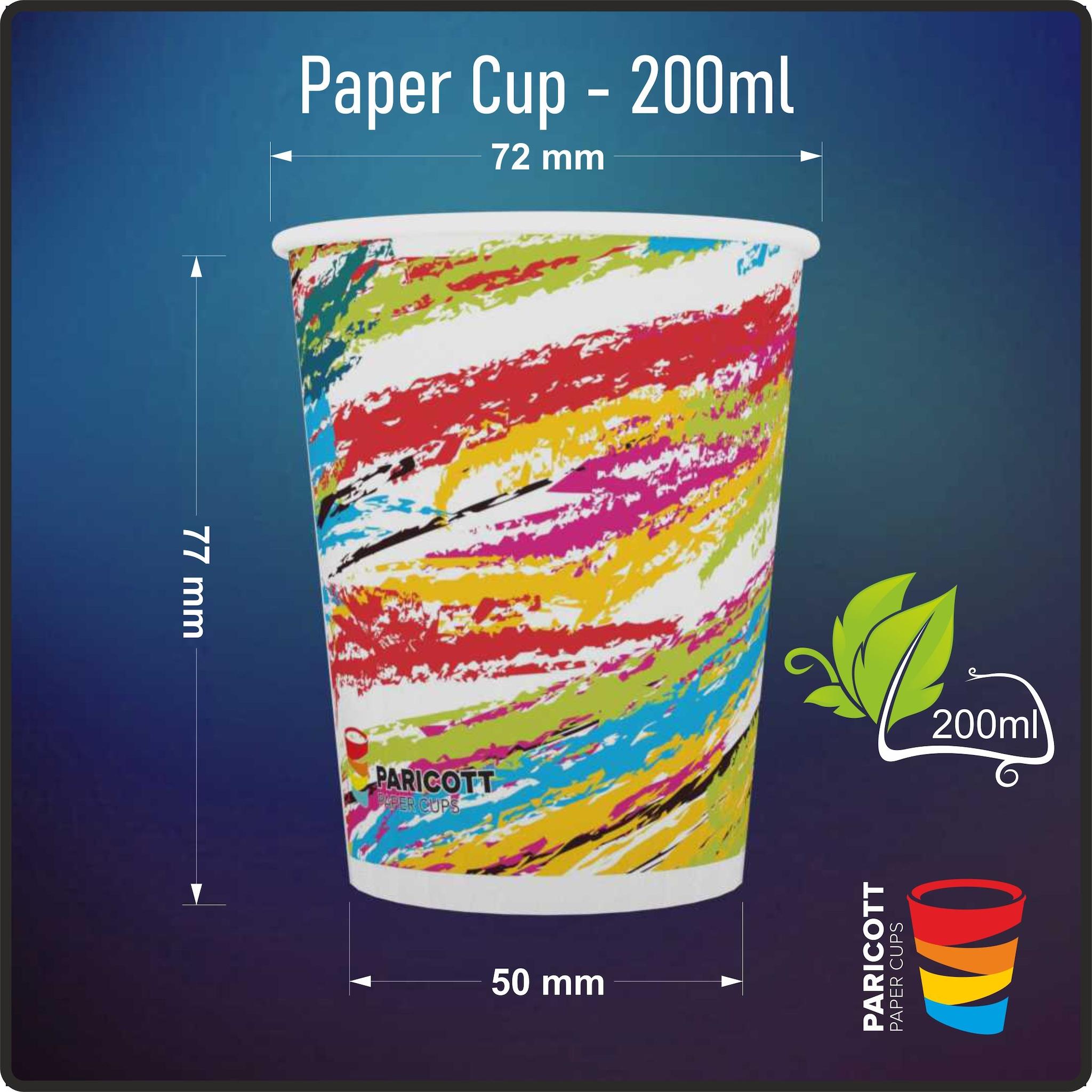 200ml Multi Color Crayon Paper Cups (100)
