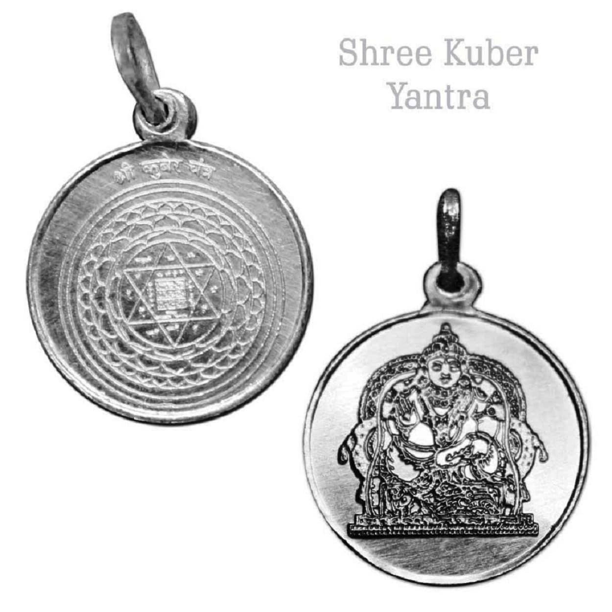 Numeroastro Shri Kuber Yantra Pendant In Pure Silver (5.5 Grams) (1 Pc)