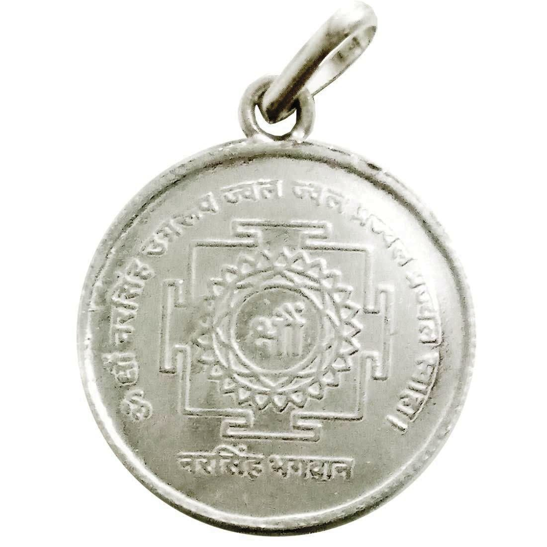 Numeroastro Shri Narsingh Yantra Pendant In Pure Silver For Men & Women (5.5 Grams) (1 Pc)