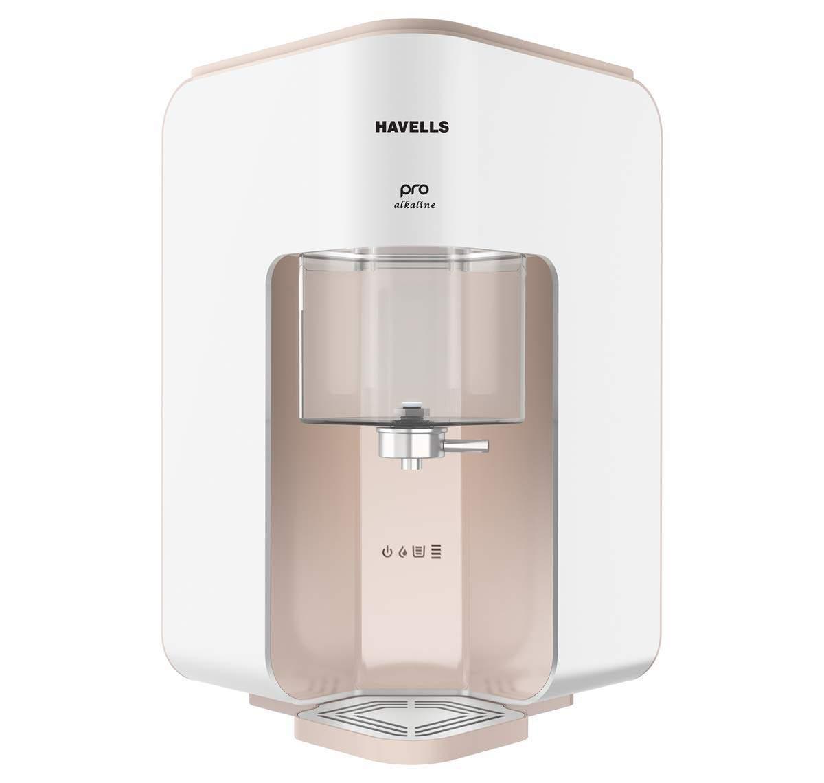 Havells Pro Alkaline 7 Litre RO+UV Water Purifier (White/Beige)