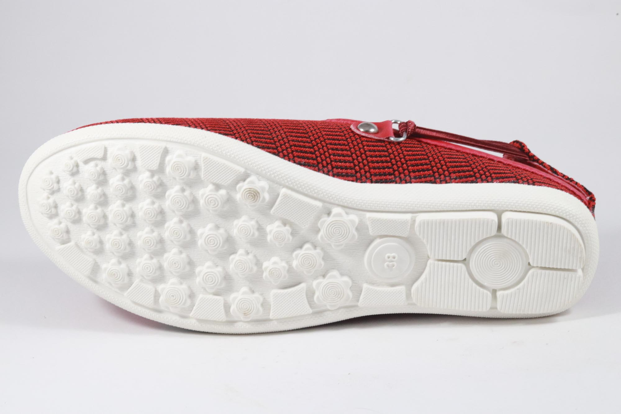 AMRIT FOOTCARE STYLISH Shoes, Belliles AMRIT-150 (RED, 8-11, 6 PAIR)