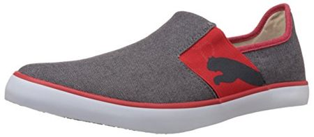 Puma Unisex Lazy Slip On II DP Periscope And High Risk Red Canvas Sneakers - 9 UK