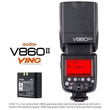 Godox V860IIC TTL Flash With HSS For CANON DSLR