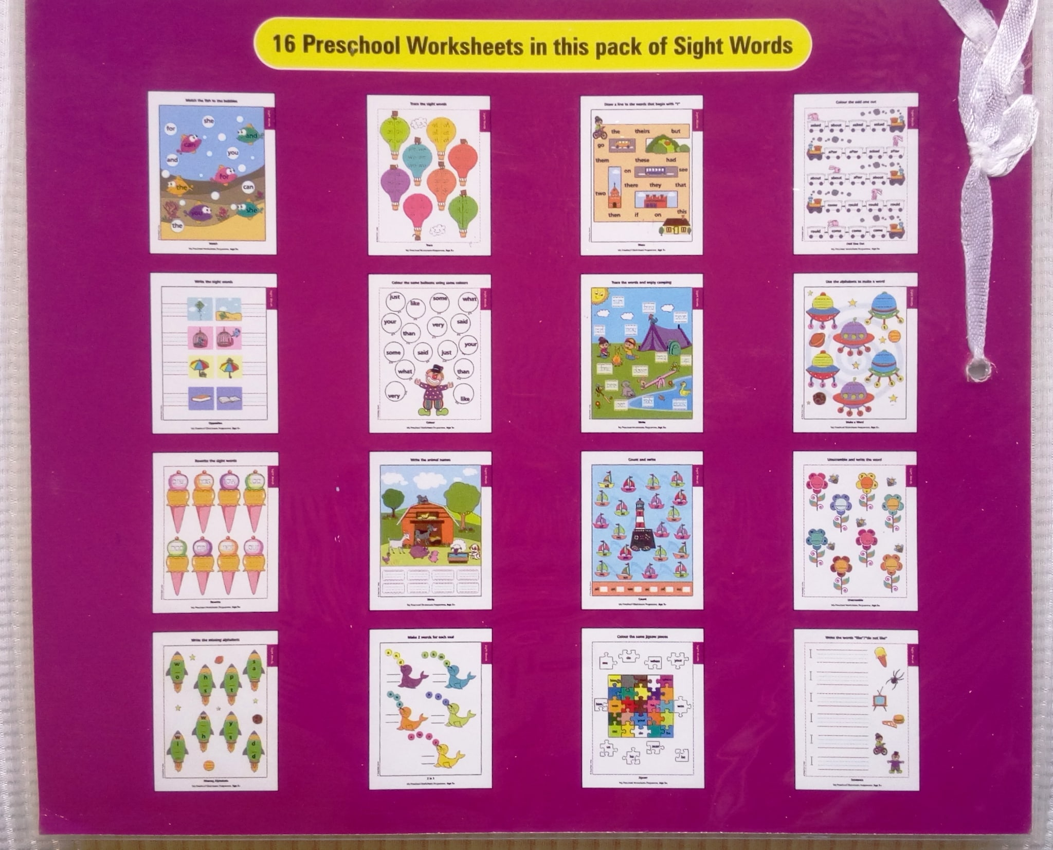 My Preschool Worksheets Sight Words Level 3 (Age 5+)