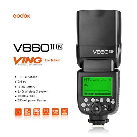 Godox V860IIN TTL Flash With HSS For Nikon DSLR