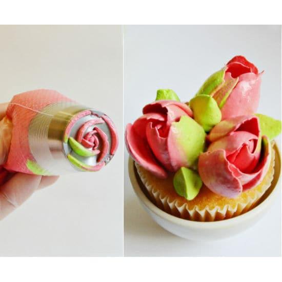 Russian Ten Petal Rose Piping Tip Cake Nozzles - Divena In