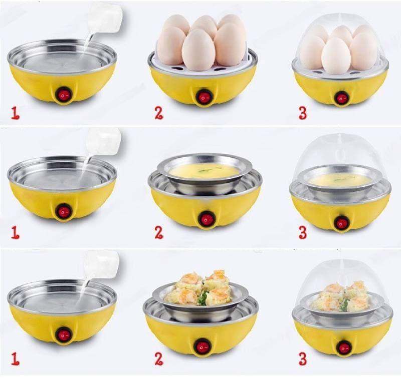 Electric Egg Cooker Egg Boiler & Steamer