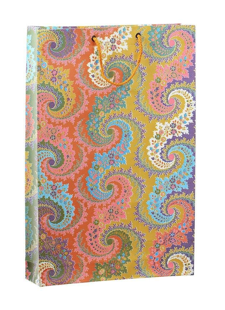 PREMIUM MULTICOLOR GIFT PAPER CARRY BAGS-(PACK OF 10) -SIZE-1611 INCHES(WITH FREE 10 GIFT TAGS)