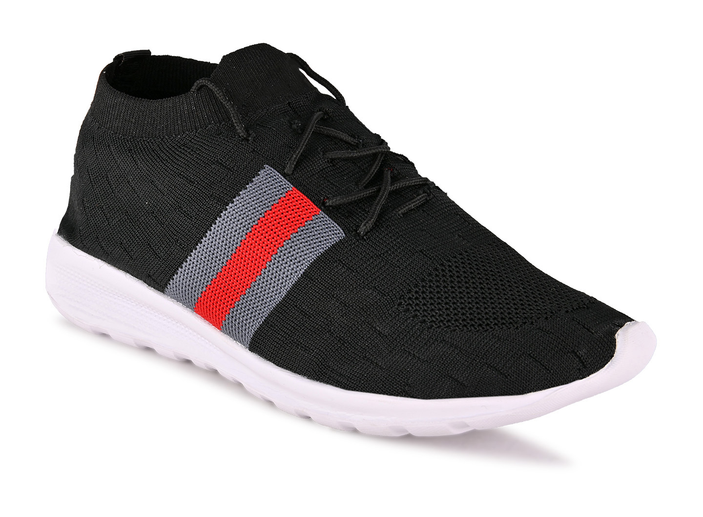 JK PORT Comfortable And Trendy Sports Shoes JKPSB59BKRD Are Reliable For Any Sports (Black,6-10,8 PAIR)