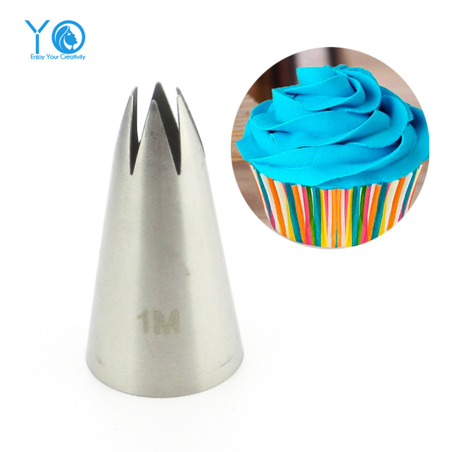 2pcs Stainless Steel Icing Cake Nozzles N1 & N2 / 1M & 2D Decorating Tips - Divena In