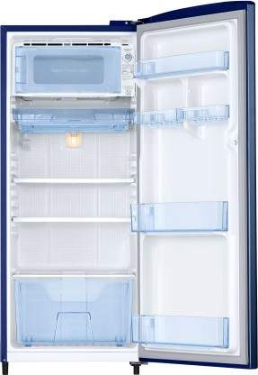 Samsung 192 L Direct Cool Single Door 3 Star Refrigerator With Base Drawer (Camellia Blue, RR20R272ZCU/NL)