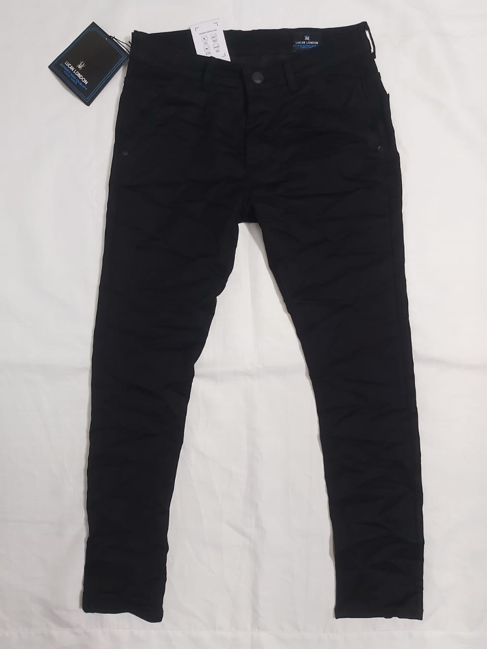 LUCAN LONDON LLJ01 HEAVY STYLISH BLACK COLOR POLO FIT JEANS FOR MEN'S (28)
