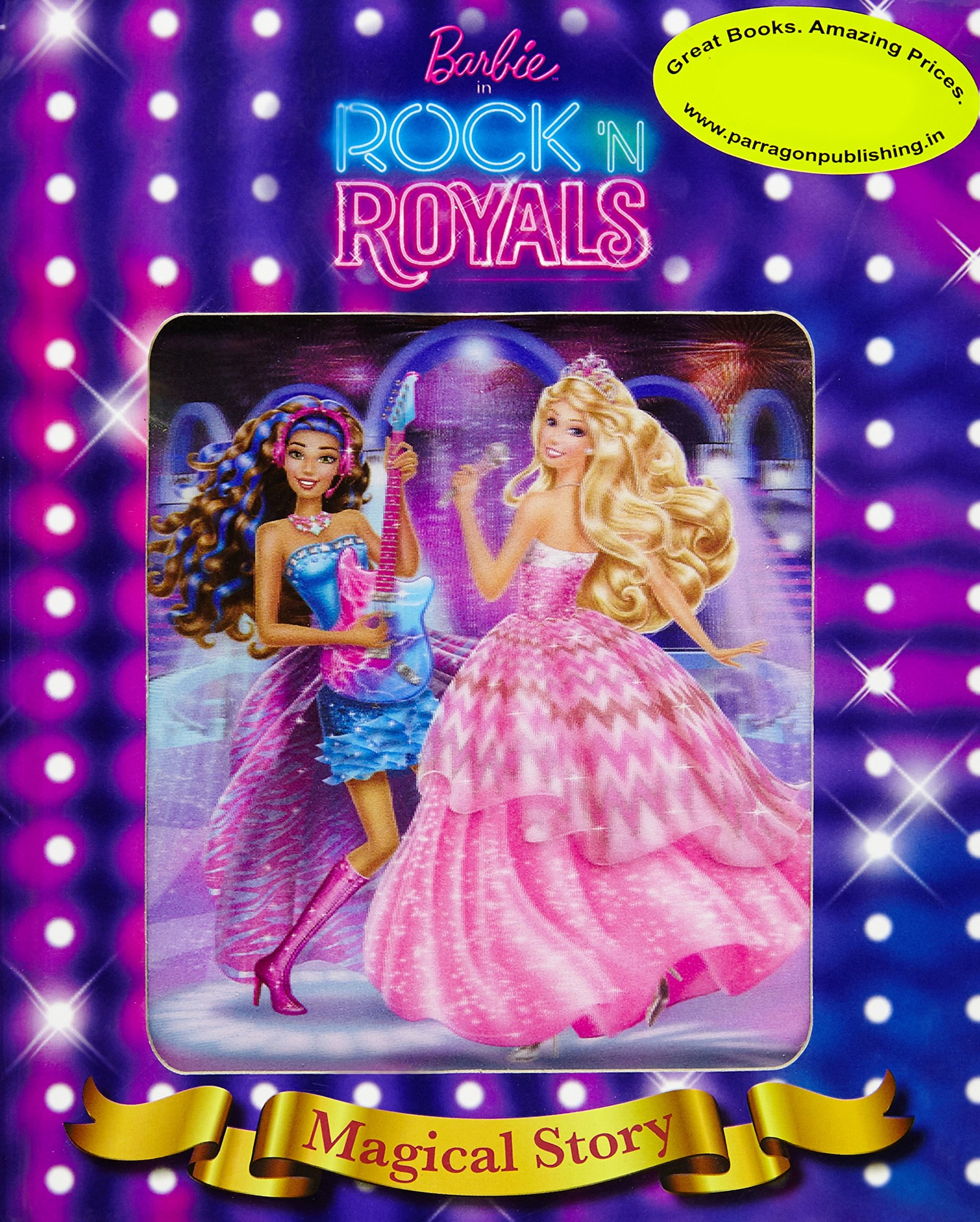 Barbie In Rockn Royals Magical Story Book With Lenticular