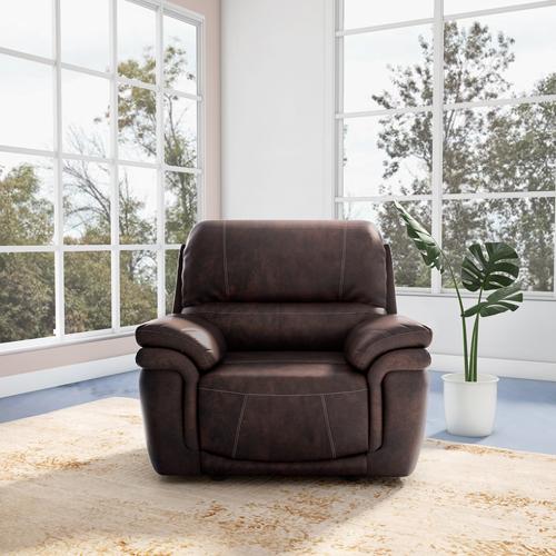 Godrej Mackenzie A 1 Seater Recliner Leatherette (Brown)