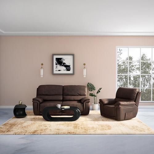 Godrej Mackenzie A 2 Seater Recliner Leatherette (Dark Brown)