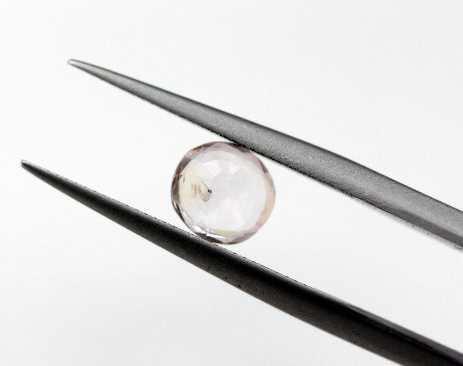 0.89 Ct Pink Sapphire Natural Gemstone Light Pink White Color Round Cut Ceylon Certified