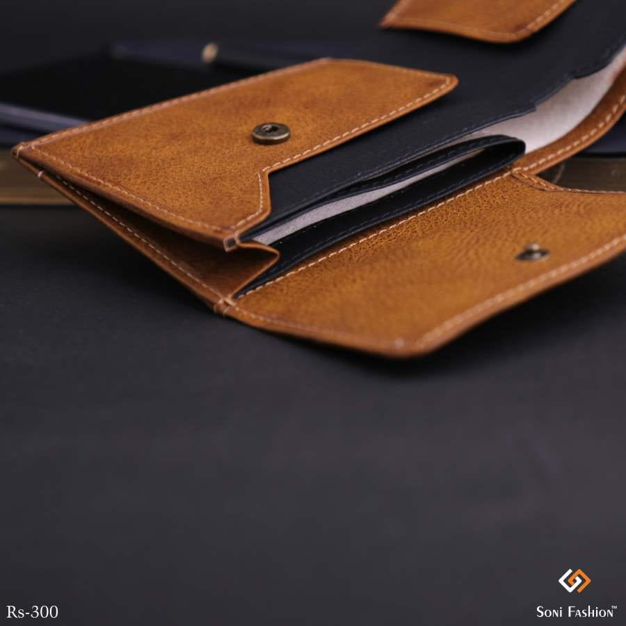 Classy Look Men's Slim Leather Wallet With Credit Cards & ID Slots With RFID Protection