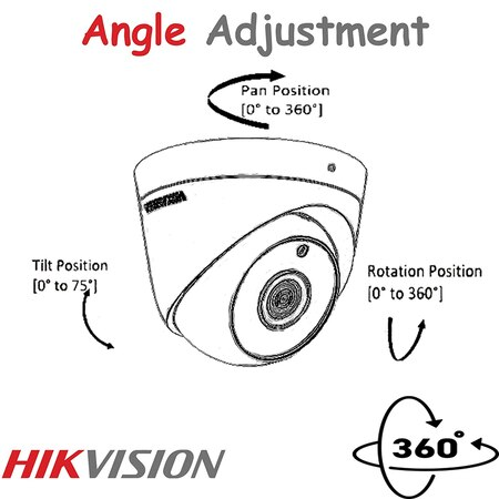 HIKVISION 5MP Ultra HD Indoor Dome Camera DS-2CE5AHOT-ITPF Night Vision (White).