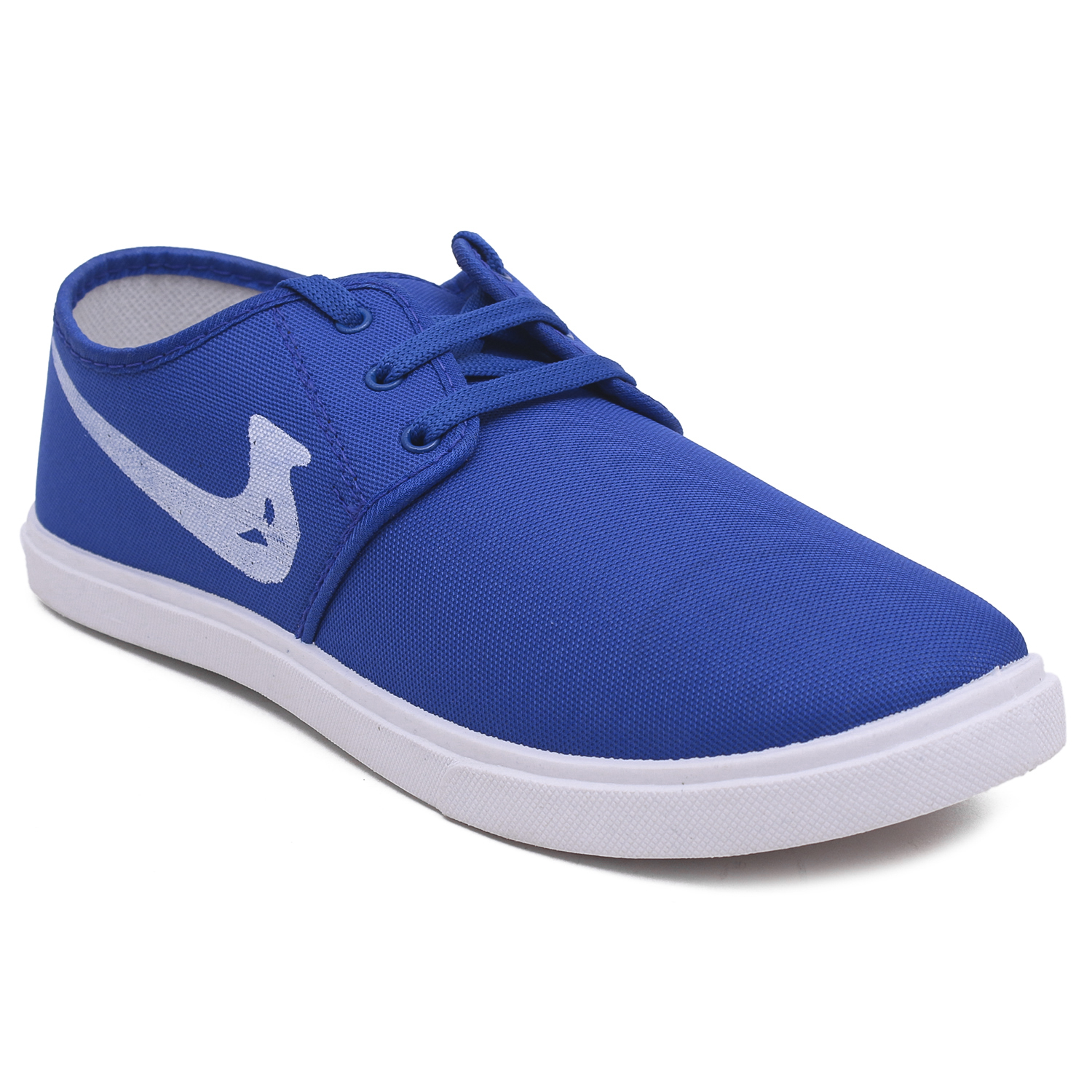 Foot Trends Stylish Trendy & Fashionable Canvas For Men HectorR.Blue (Royal Blue, 6-9, 4 PAIR)