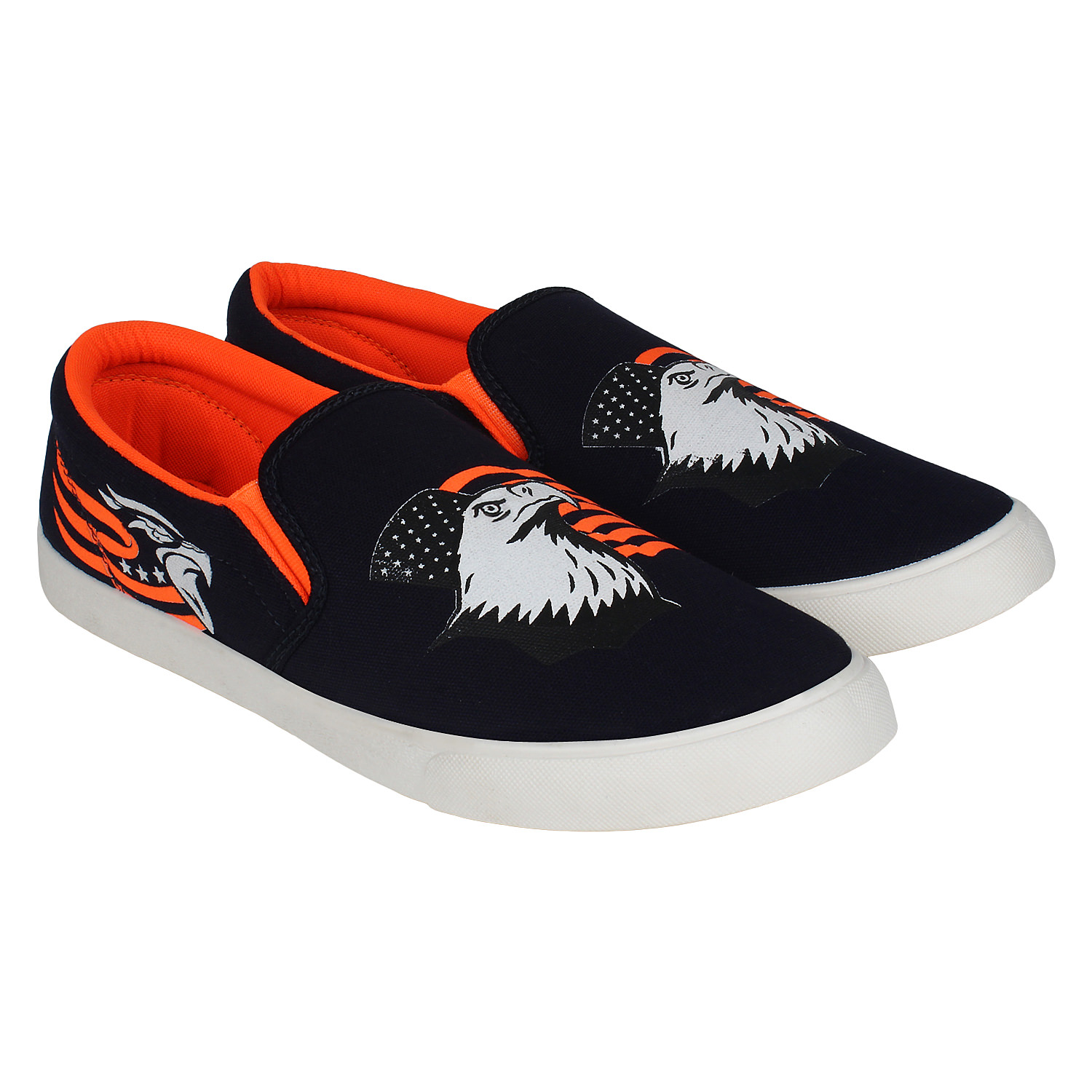 Foot Trends Stylish Trendy & Fashionable Loafers For Men Baaz (Orange,7-10,4 PAIR)