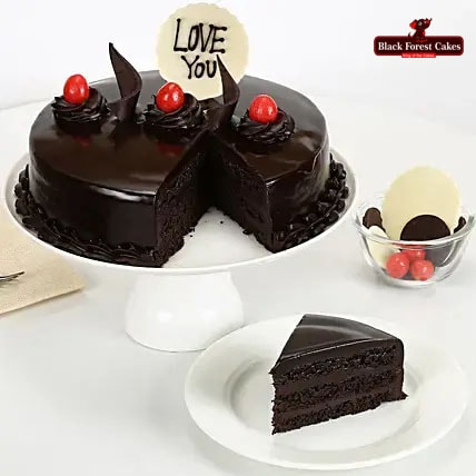 Love You Valentine Truffle Cake