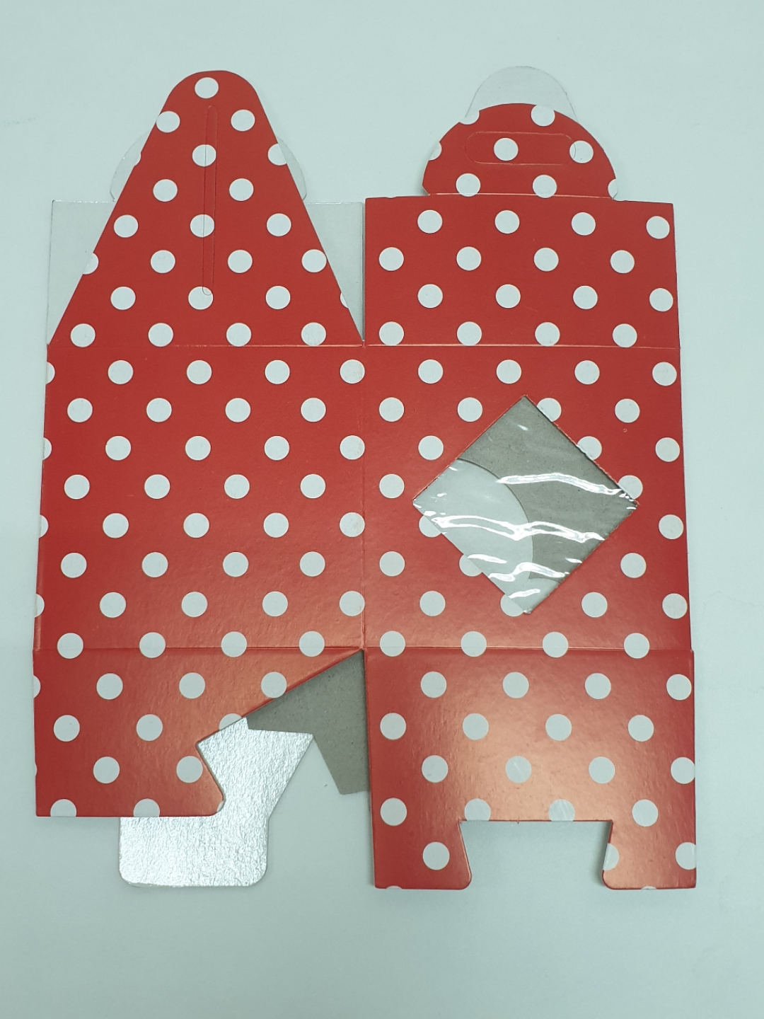 Red Polk Dot Cup Cakebox (1) Insert