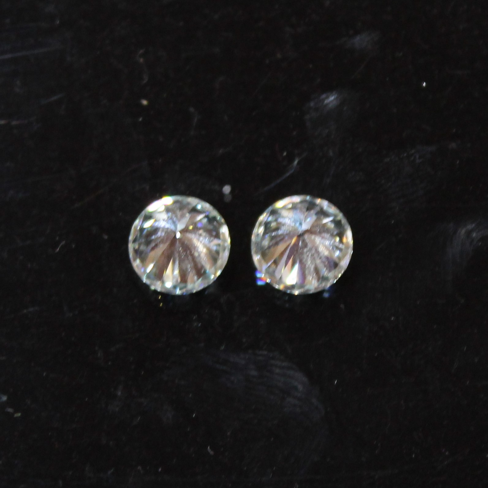 Moissanite Diamond Solitaire Faceted Pair Loose Gemstone