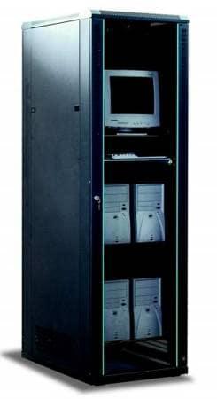 APW Computer Rack Black [SR-8142-1]