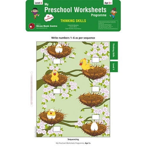 My Preschool Worksheets Thinking Skills Level 3 (Age 5+)