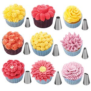 Stainless Steel 24 Nozzle Piping Set For Cake Decoration And Icing, 17x11.2x4.8cm (Off-White)