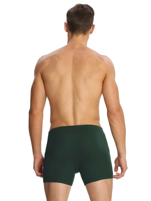 Jockey Boxer Brief Modern Classic (Pack Of2) (L,Bottle Green)
