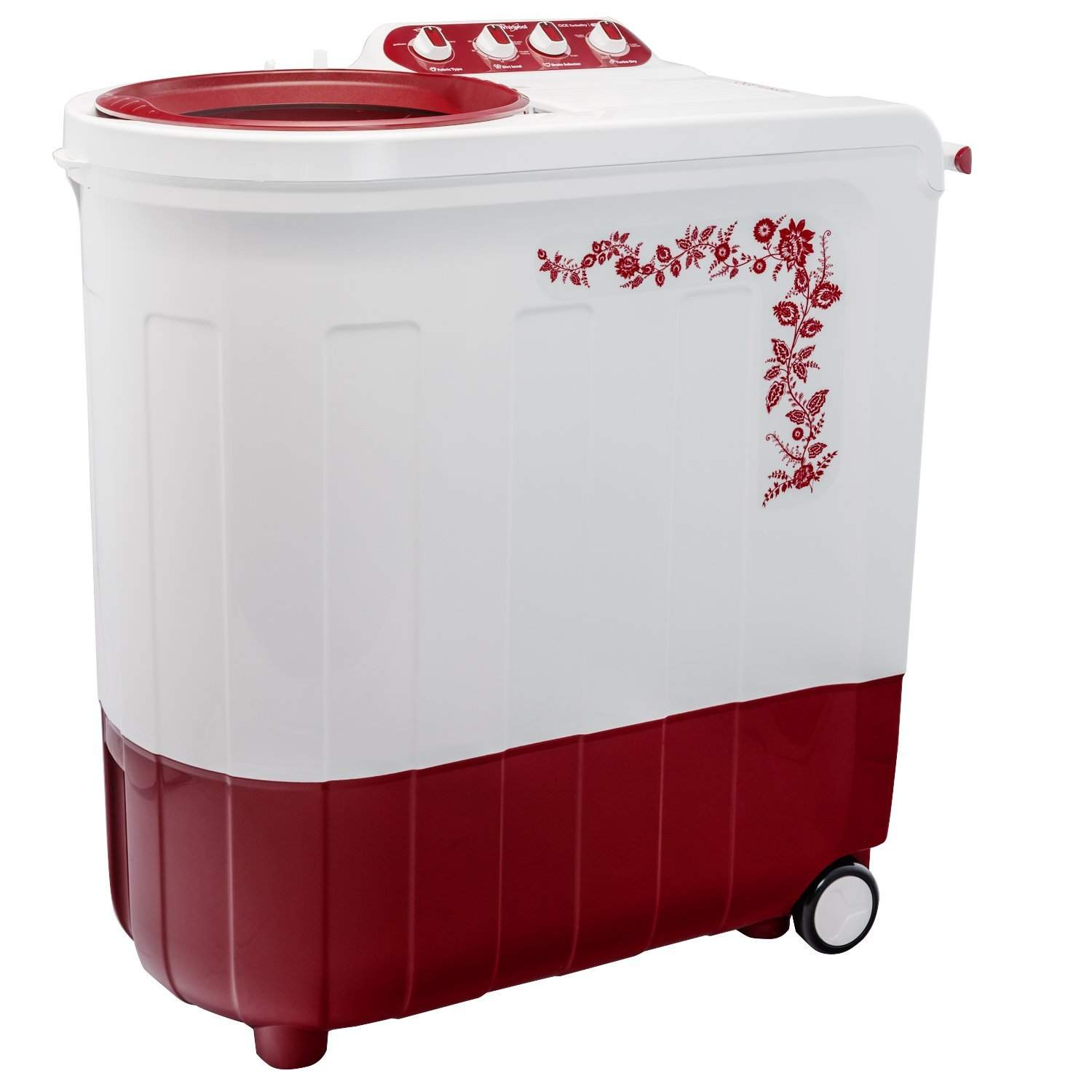Whirlpool Ace 7.5 Turbo Dry Semi-automatic Top-loading Washing Machine (7.5 Kg Coral Red)