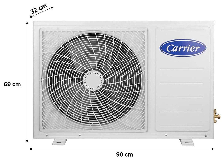 Carrier 2 Ton 3 Star Split AC (Copper, CAS24EK3R39F0+CF243R3AC90, White)