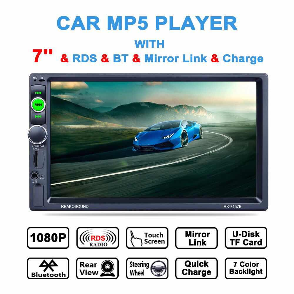 """SYGNIFIC 7"""" Inch DIN Car MP5 MP5 Player Bluetooth USB Touch Screen Stereo Radio HD"""