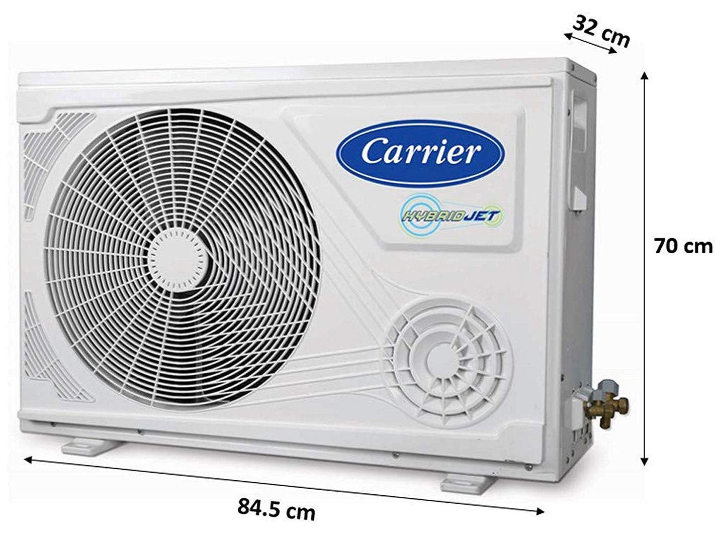 Carrier 2 Ton 3 Star Inverter Split AC (Copper, CAI24EK3R49F0+CI243R4DH90, White)