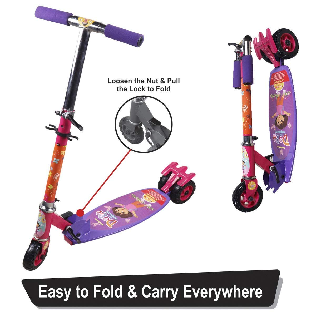Dora Kids Skate Kick Scooter 66156 ( Oval Shape )