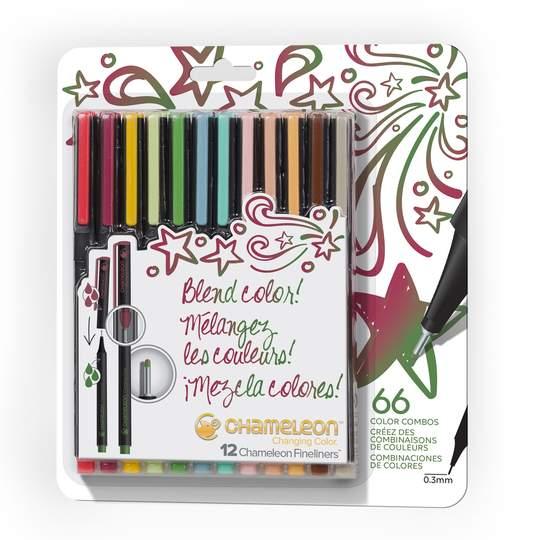 Chameleon FineLiner Set Of 12 Designer Colour