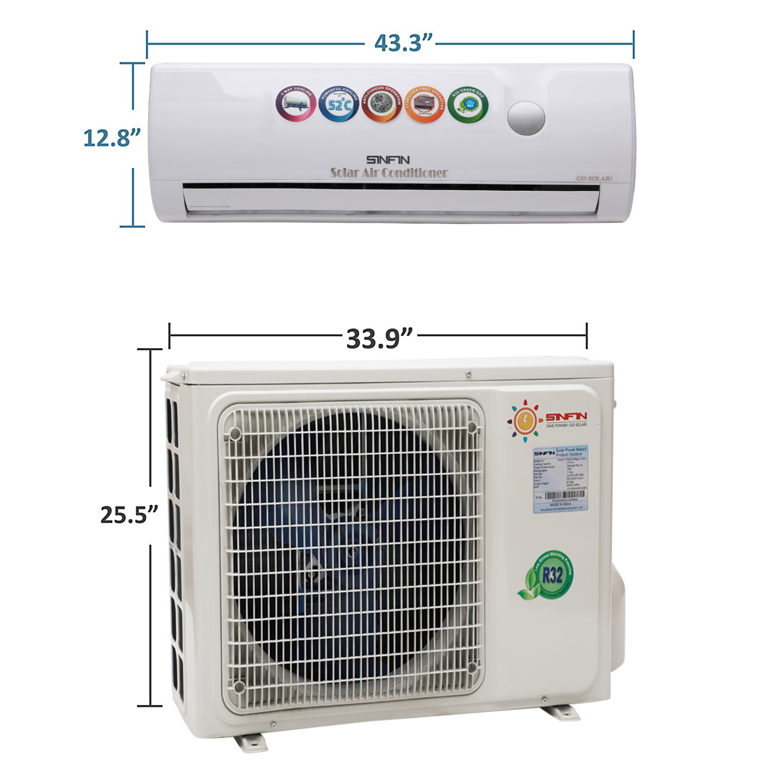 SWAY-AC1.5E Magic Cool 1.5 Ton Split Air Conditioner White